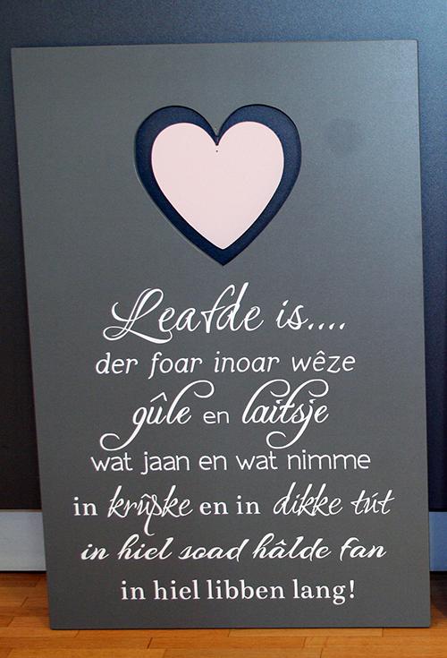 Fryske houten tekstbuorden » Heit & Mem